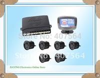 Free shipping  Car LCD 6 Reverse Parking Sensors Backup Radar Kit