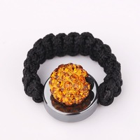 New Arrived Shamballa Crystal Ring, Wholesale Europe Style DIY Shamballa Ring  SR014