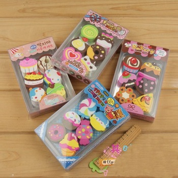 Min.order is $15 (mix order)South Korea creative stationery/Students prize/Cake eraser