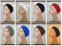Free Shipping 100% Polyster turband Hat 12 pieces mixed colours