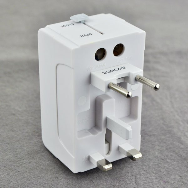 US UK AU EU Universal Travel Adapter AC Power Plug All In One with USB Port(China (Mainland))
