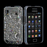 FREE SHIPPING GEM SKIN BLING RHINESTONE CRYSTAL CASE COVER FOR SAMSUNG GALAXY ACE S5830 40 MOBILE PHONE CASE WOMEN BLING BAGS