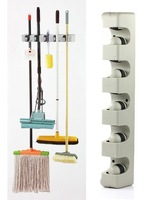 $10 off per $100 order+ Plastic Wall Mounted 5 Position Kitchen Storage Mop Broom Organizer Holder Tool