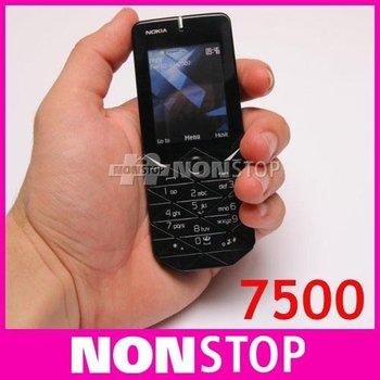 7500 Original Nokia 7500 Prism Unlock Cell Phones Bluetooth FM JAVA In Stock 3pcs/lot