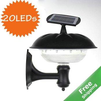 Solar Wall Light+ 20 Bright LEDs+100 % solar powered+ Free shipping