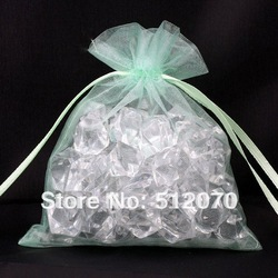 Wholesale 50pcs/Lot 7X9cm Lime Green Colour Gift Bags Gauze Cloth Packing Pouches Fit Wedding Free Shipping(China (Mainland))