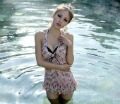 Three-piece suit covered belly skirt type bikini hot spring bathing suit Free shipping 1pcs swimsuit wome,Y021