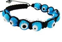 Браслет из бисера Valentine's Gift! Fashion Shamballa Bracelet, with rhinestone zinc alloy beads Heart Design Bracelet For Lovers
