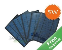 Mini Solar Module Solar Panel 5W/6V + PET Laminated +Polycrystalline Solar Cell