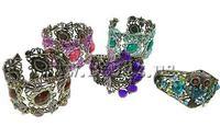 Браслет из бисера Christmas! Hematite Shamballa Bracelet, wax cord with shining hematite beads, 10mm, Sold per 7.5 Inch- Strand