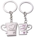 Free Shipping Cheers for you Cup Couple keychain 20 Pairs/Lot