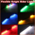 High bright 30cm Flexible 32 LED Knight Rider Lights with scanning Strobe flash 3528 LED Strip  12V DC motorcycle Lights(China (Mainland))