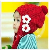 The baby floret ear muff wool hat qiu dong ear muff scarf cap children caps chirstmas 12pcs/lot