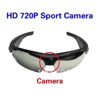 720P HD Sunglasses Camera Sport Camera DVR 170 Degrees Wide Angle 5.0 M Pixels DVR Eyewear Video Recorder Free Shipping