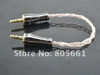 Hi end audio kimber cable 8TC 3.5mm to 3.5mm Stereo banana cable with paliccs 3.5mm banana plug