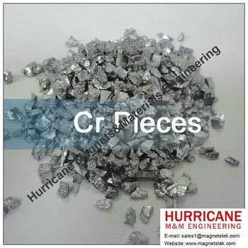 Cr pieces Chromium depositing PVD CVD coating Sputtering Materials Grinding Media/Evaporation Materials from magnetstek