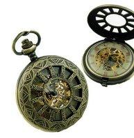 6pcs/lot vintage Engraved Mechanical Pocket Watch.roman number free shipping.