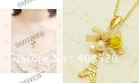 Колье-цепь 20PCS/lot Fashion Retro Lovely Swallow Flowers Lucky Choker Necklace Jewelry 4221