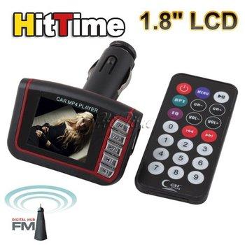 "1.8"" LCD Car MP3 MP4 Player Wireless FM Transmitter USB SD Slot w Remote Control #20052"