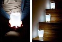 100pcs/ctn wholesale LED Milk Cup Light New Gift cream-colored glass night light  AAA*3(not include) 47*47*60cm/ctn 19kg/ctn