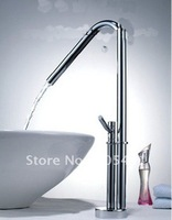 Free Shipping!1pcs/lot .Fashion Heighten basin mix .bathroom brass tap .(Manufacturers selling five years quality assurance)