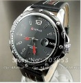 1PC CURREN NEW DIAL CLOCK HOURS HAND DATE BLACK BROWN LEATHER MEN WRIST WATCH FREE SHIPPING