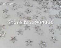 Free Shipping! Clear 8mm 2000pcs/bag Flatback Five Star Acrylic Scrapbooking Rhinestone Decoration DIY Crafts