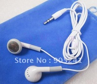 Free Shipping OEM Cheap New 3.5mm Stereo earphone(no MIC) For iPod/MP3/MP4 Headset Earphone (White) 100PCS/LOT