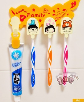 free shipping 2pcs/lot Cartoon laugh Shua Shua suit toothbrush rack of a three