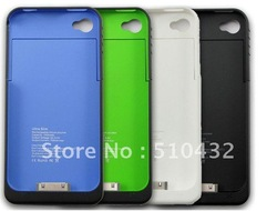 1900mAh External Rechargeable Backup Battery Charger Case for iphone 4s 4g,10pcs/lot,HK Post free shipping,A0066(China (Mainland))