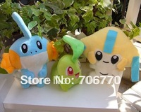 New 3pcs Pokemon Mudkip Jirachi  Plush Doll Toy Collectible Lovely Gift