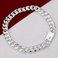 H227 Wholesale Chunky 925 Silver Bracelets Prata pulseras bracelet new 2014 atacado de bijuteria male