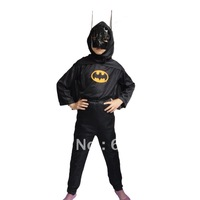 "New Arrival Kids Halloween costume  ""Batman ""Cosplay accessories 3pcs/set  fancy dress outfits n Free Shipping"