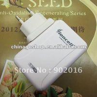 50pcs free shipping EU plug 4 USB Multi Output Wall Charger for ipad/iphone