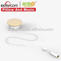 plastic stereo pillow speaker with separating cable for iphone & ipad
