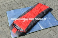 Eiderdown sleeping bag with hat