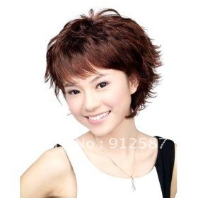hot New 3 Color Girl fashion wig cuet short Curly wigs party wigs free shipping [simon store](China (Mainland))