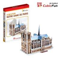 3d blocks with famous small building blocks mini notre dame de paris,intelligent PAPER block toy,gift for children