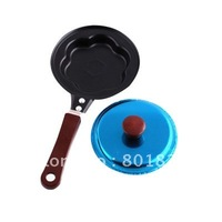 Free shipping by China post-1pc,Mini wintersweet Shaped Egg Fry Frying Pan, Cook pan+Cover,Non-Stick