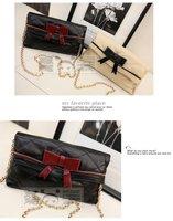 2012 Hot Sale Fashion sweet Women Bag Ladies Handbag Bow Casual  women day clutches  Chain free shipping