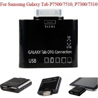 100pcs/lot 5+1 in 1 USB Camera OTG Connection Kit for samsung galaxy Tab P7500/7510/7300/7310, free DHL shipping