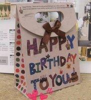 50pc/Lot 163-3 Siz S fashion birthday gift bag with bow