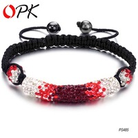 OPK JEWELRY Shamballa Bracelets Tresor Paris Bracelets, Red Color  of shamballa 485