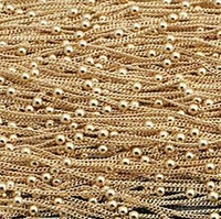 Fashion jewelry findings rose gold chain 1.2mm rose gold necklace chain 5 meters / pack free shipping