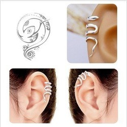 Fashion Jewelry Snake Ear Clip Earrings,Metallic Unilateral Ear Cuffs Earrings 100% Excellent Quality(China (Mainland))