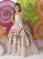 Christmas Champagne Flower Girl Dress Girl Skirt Princess Skirt Party Skirt Pageant Skirt Custom SZ 2 4 6 8 10 12 14 JL708040