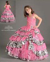 Christmas Pink Leopard Flower Girl Dress Girl Skirt Princess Skirt Party Skirt Pageant Skirt Custom SZ 2 4 6 8 10 12 14 JL708007