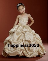 Christmas Champagne Flower Girl Dress Girl Skirt Princess Skirt Party Skirt Pageant Skirt Custom SZ 2 4 6 8 10 12 14 JL708008