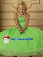 Christmas Green Flower Girl Dress Girl Skirt Princess Skirt Party Skirt Pageant Skirt Custom SZ 2 4 6 8 10 12 14 JL708030
