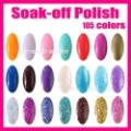 Wholesale 2012 New Fashion 5pcs/lot 105 Color 15ml Nail Art UV Gel Colour Soak off Polish UV lamp Glitter + Free Shipping